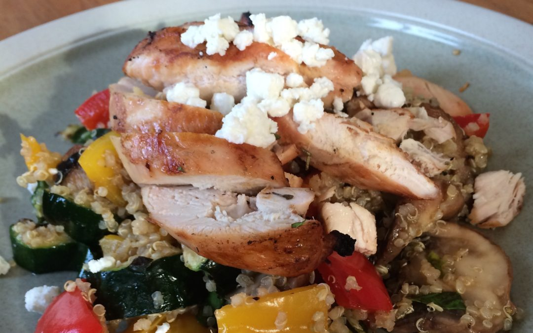 Grilled Veggie Quinoa with Chicken