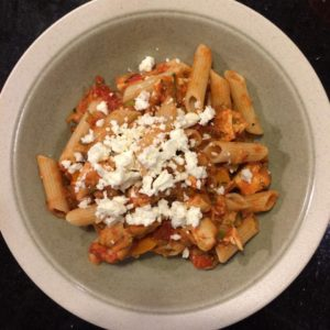 Salsa chicken pasta