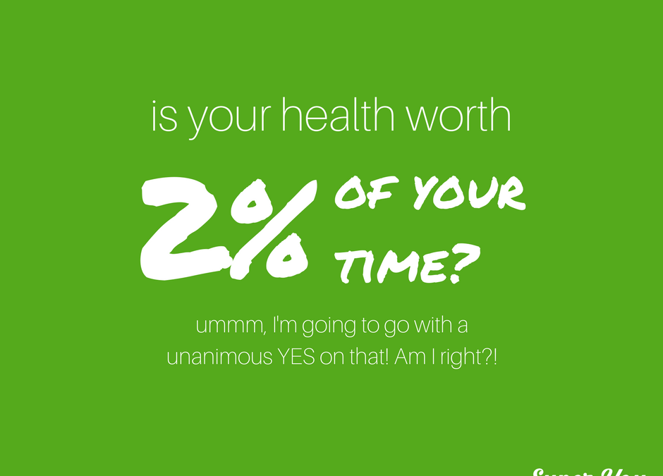 Is your health worth 2% of your time?