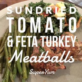 Sundried Tomato & Feta Turkey Meatballs