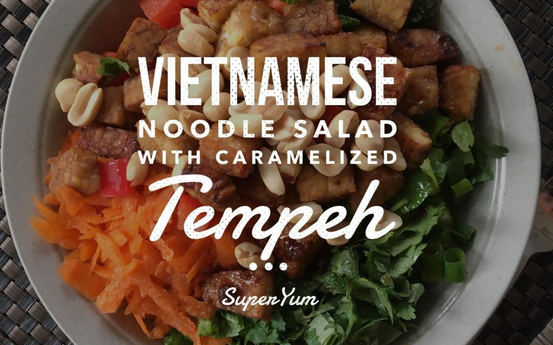 Vietnamese Noodle Bowl with Caramelized Tempeh