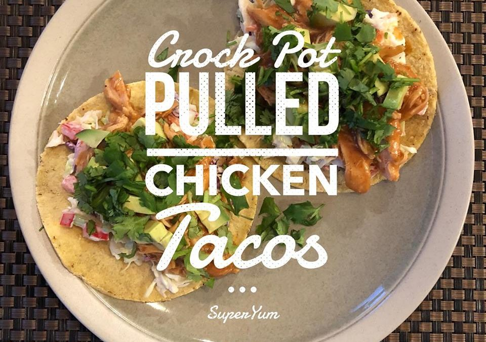 Crock Pot Pulled Chicken Tacos