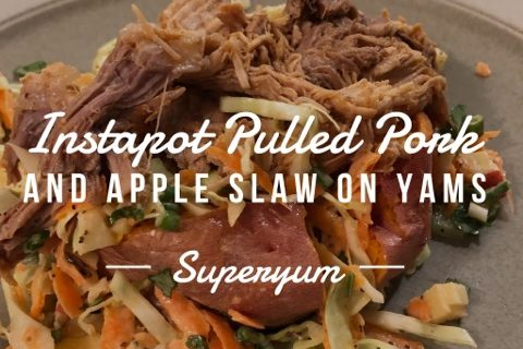 Instant Pot Pulled Pork with Apple Slaw