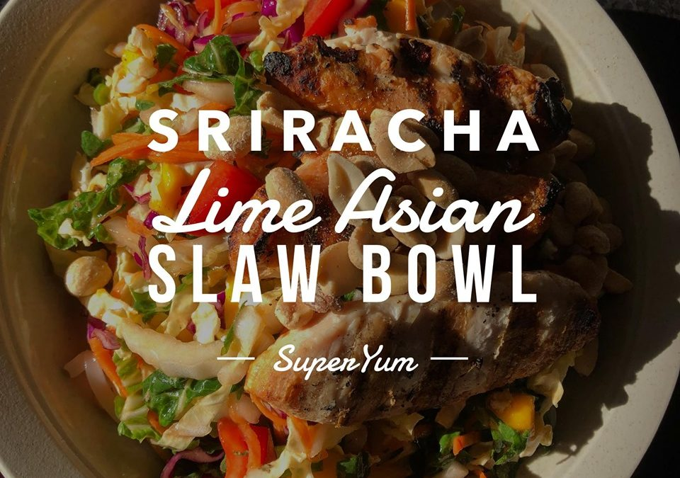 Sriracha Lime Asian Slaw Bowl