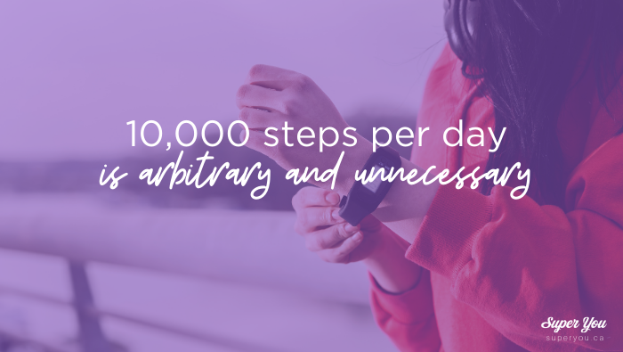 You don't need to take 10,000 steps per day (for real)